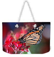 Weekender Tote Bag featuring the photograph Butterfly 2 by Leticia Latocki