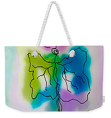 Weekender Tote Bag featuring the digital art Butterfly Abstract 1 by Frank Bright
