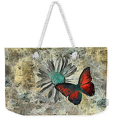 Butterfly And Daisy - Ftd01t01 Weekender Tote Bag