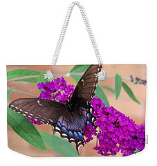 Butterfly And Friend Weekender Tote Bag