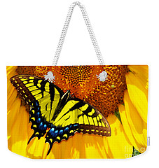 Butterfly And The Sunflower Weekender Tote Bag