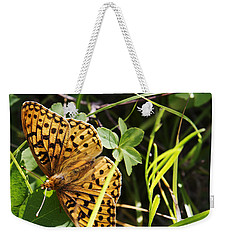 Weekender Tote Bag featuring the photograph Butterfly At Signal Mountain by Belinda Greb