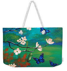 Butterfly Blue Weekender Tote Bag