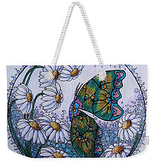 Butterfly Circle Weekender Tote Bag