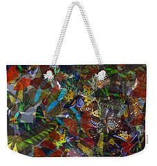 Weekender Tote Bag featuring the photograph Butterfly Collage by Robert Meanor