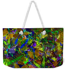 Weekender Tote Bag featuring the photograph Butterfly Collage Yellow by Robert Meanor
