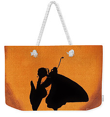 Weekender Tote Bag featuring the drawing Butterfly by D Hackett