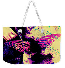 Weekender Tote Bag featuring the photograph Butterfly Disintegration  by Jessica Shelton
