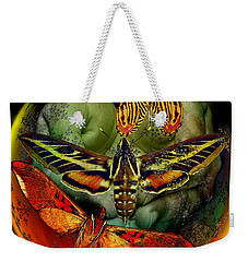 Butterfly Effect Blue Planet Weekender Tote Bag by Joseph Mosley