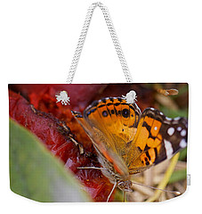 Weekender Tote Bag featuring the photograph Butterfly by Erika Weber