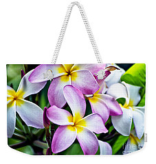 Weekender Tote Bag featuring the photograph Butterfly Flowers by Thomas Woolworth