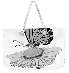 Weekender Tote Bag featuring the digital art Butterfly Friends by Carol Jacobs