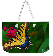 Weekender Tote Bag featuring the photograph Butterfly by Geraldine DeBoer