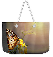 Butterfly Glow Weekender Tote Bag by Judy Vincent