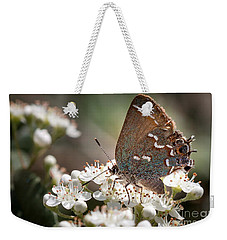 Weekender Tote Bag featuring the photograph Butterfly In The Garden by Todd Blanchard