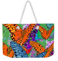 Butterfly Joy Weekender Tote Bag by Mary Armstrong