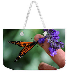 Weekender Tote Bag featuring the photograph Butterfly by Leticia Latocki