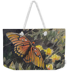 Butterfly Meadow With Yellow Flowers Weekender Tote Bag