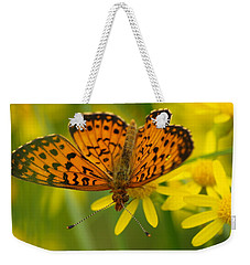 Weekender Tote Bag featuring the photograph Butterfly by James Peterson