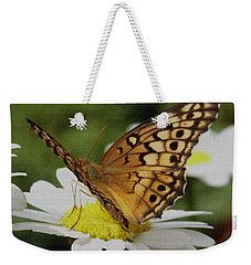 Butterfly On Daisy Weekender Tote Bag by James C Thomas