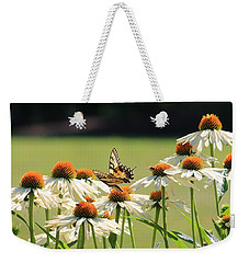 Butterfly On Echinacea Weekender Tote Bag
