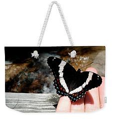 Butterfly On Fingertips Weekender Tote Bag