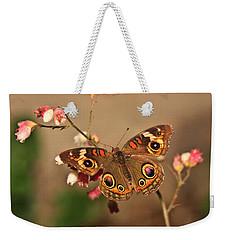 Butterfly On Pink Weekender Tote Bag