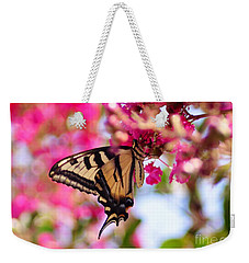 Butterfly On The Crepe Myrtle. Weekender Tote Bag