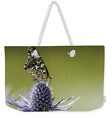 Butterfly On Thistle Weekender Tote Bag by Peter v Quenter