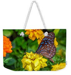 Butterfly On Yellow Marigold Weekender Tote Bag