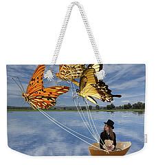 Butterfly Sailing Weekender Tote Bag