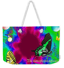 Butterfly Shows The Way Weekender Tote Bag