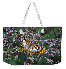 Weekender Tote Bag featuring the photograph Butterfly Soft Landing by Thomas Woolworth