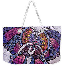 Butterfly Tangle Weekender Tote Bag by Megan Walsh