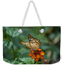 Weekender Tote Bag featuring the photograph Butterfly Wings Of Sun Light by Thomas Woolworth