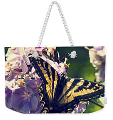 Weekender Tote Bag featuring the photograph Butterfly by Yulia Kazansky