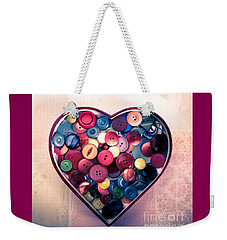 Button Love Weekender Tote Bag by Jan Bickerton