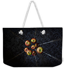 Weekender Tote Bag featuring the photograph By A Thread by Aaron Aldrich