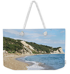 Weekender Tote Bag featuring the photograph By The Beach by George Katechis