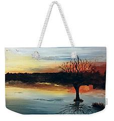 By The Lake Weekender Tote Bag