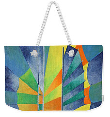 Weekender Tote Bag featuring the painting By The Light Of The Silvery Moon by Tracey Harrington-Simpson