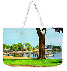 Weekender Tote Bag featuring the photograph By The Sea by Judy Palkimas