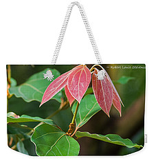 Weekender Tote Bag featuring the photograph By The Seeds That You Plant by Jordan Blackstone