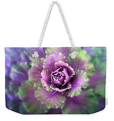 Cabbage Flower Weekender Tote Bag by Jessica Jenney