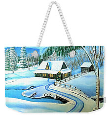 Cabin Fever At Christmastime Weekender Tote Bag by Kimberlee Baxter