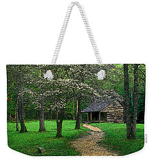 Weekender Tote Bag featuring the photograph Cabin In Cades Cove by Rodney Lee Williams