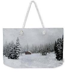 Cabin In The Woods-textured Weekender Tote Bag