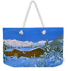 Cabin Mount Alyeska, Alaska, Usa Weekender Tote Bag