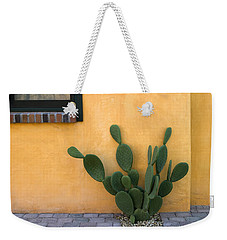 Cactus And Yellow Wall Weekender Tote Bag by Carol Leigh