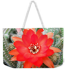 Cactus Flower Weekender Tote Bag by Ramona Matei